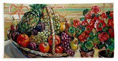 Fruit Basket Hand Towel by Alexandra Maria Ethlyn Cheshire