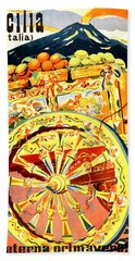 Fruit Carriage From Sicily Hand Towel