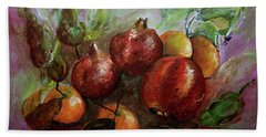 Hand Towel featuring the painting Fruit Dance by Jasna Dragun