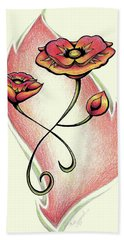 Vibrant Flower 1 Poppy Bath Towel