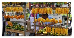 Fruit Stand Antigua  Guatemala Hand Towel by Kurt Van Wagner