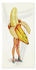 Fruit Stand - Banana Hand Towel by Kelly Gilleran