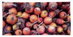 Fruits And Vegetable At Farmer Market Hand Towel by Jingjits Photography
