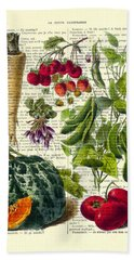 Fruits And Vegetables Kitchen Decoration Hand Towel