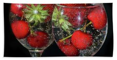 Bath Towel featuring the photograph Fruits In Glass by Elvira Ladocki