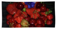 Bath Towel featuring the photograph Fruits With Flower by Elvira Ladocki
