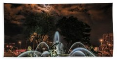 Full Moon At The Fountain Hand Towel