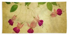 Hand Towel featuring the photograph Fuchsia #1 by Rebecca Cozart