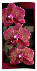 Fuchsia Orchids Oof Bath Towel