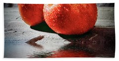 Bath Towel featuring the photograph Fuji Red Flood by Jack Torcello
