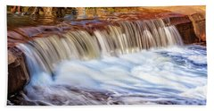Hand Towel featuring the photograph Full Flow, Noble Falls, Perth by Dave Catley