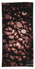 Full Frame Background Of Chocolate Chips Hand Towel