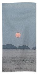 Full Moon At The Beach Bath Towel