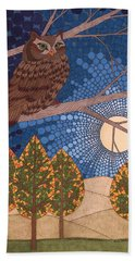Full Moon Illumination Hand Towel