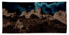 Hand Towel featuring the photograph Full Moon Over White Pocket by Anne Rodkin