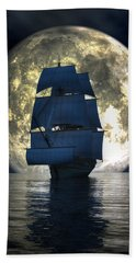 Full Moon Pirates Hand Towel by Daniel Eskridge
