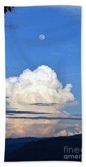 Full Moon Rising Over Blue Ridge Hand Towel by Gary Smith