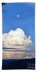 Bath Towel featuring the photograph Full Moon Rising Over Blue Ridge by Gary Smith
