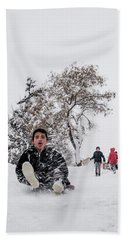 Fun On Snow-2 Hand Towel