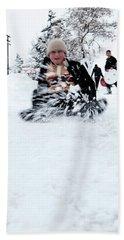 Fun On Snow-5 Hand Towel