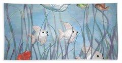 Fun With Chalkware Fish  Bath Towel
