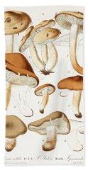 Fungi Hand Towel by Jean-Baptiste Barla