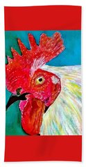 Funky Rooster Hand Towel