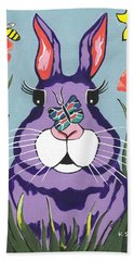 Funny Bunny - Happy Easter Hand Towel