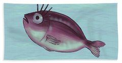 Funny Fish With Fancy Eyelashes Hand Towel