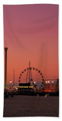 Funtown Pier At Sunset II - Jersey Shore Hand Towel