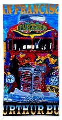 50th Anniversary Further Bus Tour Bath Towel