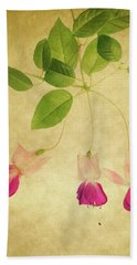Bath Towel featuring the photograph Fuschia #3 by Rebecca Cozart