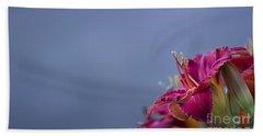 Fuchsia On Slate Hand Towel by Andrea Silies