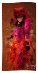 Bath Towel featuring the photograph Fuschia Venice by Jack Torcello