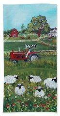 Hand Towel featuring the painting Future Farmer by Virginia Coyle