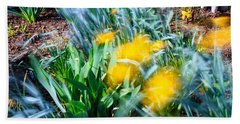 Fuzzy Daffodils Hand Towel by Allan Levin