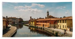 Gaggiano On The Naviglio Grande Canal, Italy Bath Towel