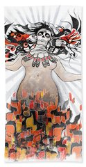 Gaia In Turmoil Hand Towel