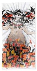 Gaia In Turmoil Bath Towel by Sassan Filsoof