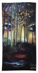 Hand Towel featuring the painting Gaia by Jodie Marie Anne Richardson Traugott          aka jm-ART