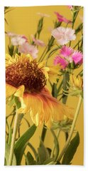 Gaillardia And Dianthus Hand Towel by Richard Rizzo