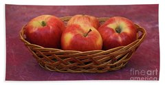 Gala Apple Basket Hand Towel