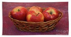 Gala Apple Basket Bath Towel by Ray Shrewsberry