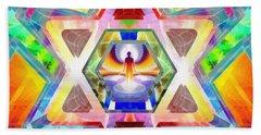 Hand Towel featuring the digital art Galactic Salon by Derek Gedney