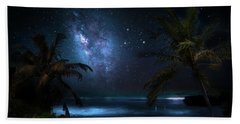 Galaxy Beach Hand Towel by Mark Andrew Thomas