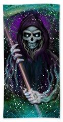 Galaxy Grim Reaper Fantasy Art Hand Towel