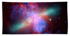 Bath Towel featuring the photograph Galaxy M82 by Marco Oliveira