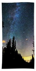 Hand Towel featuring the photograph  Galaxy Rising by James BO Insogna