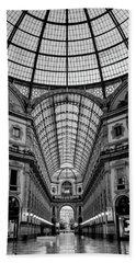 Galleria Milan Italy Bw Hand Towel