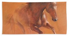 Gallop In The Desert Hand Towel